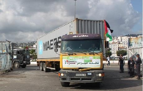 للإعلان عن انطلاق قافلة الجزائر غزة 3